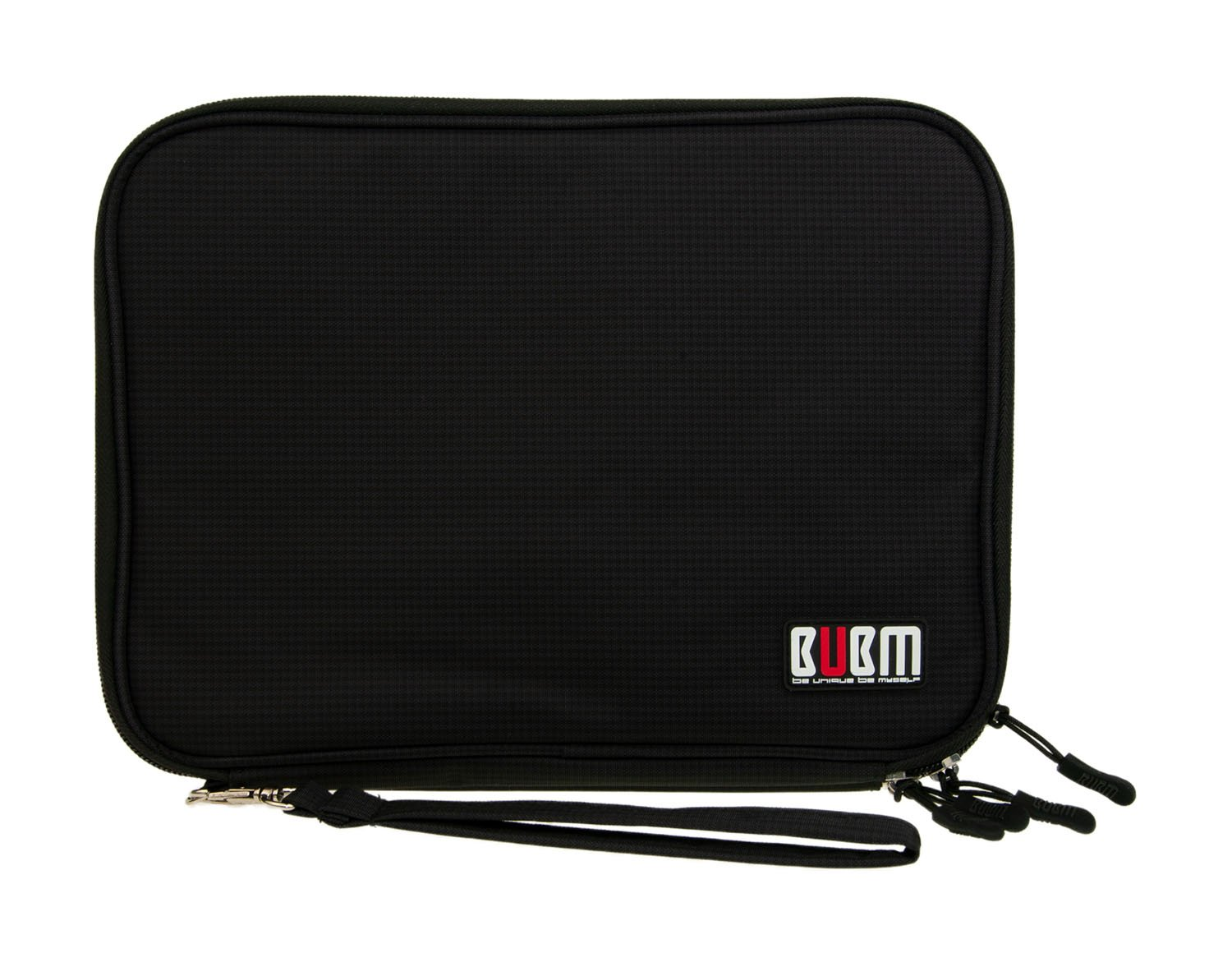Offex BUBM Double Layer Portable Electronics Organizer for Smart Phones, Tablets, and Gaming Systems - Black