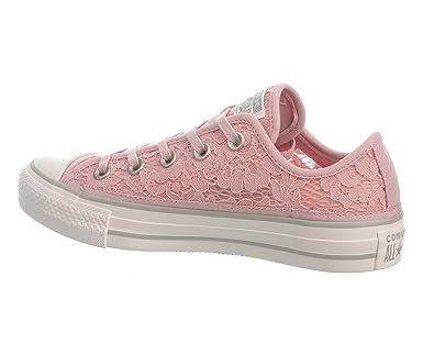 81a9192bcfc9 Converse Women s All Star Ox Crochet   Lace 561353c Peach Skin 6 B(M) US   Amazon.in  Shoes   Handbags