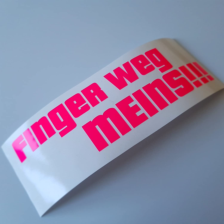 Folien Zentrum Finger Weg Meins Neon Pink Shocker Hand Auto Aufkleber Jdm Tuning Autoaufkleber Oem Dub Decal Stickerbomb Bombing Fun Roller Scooter Motorrad 437 Auto