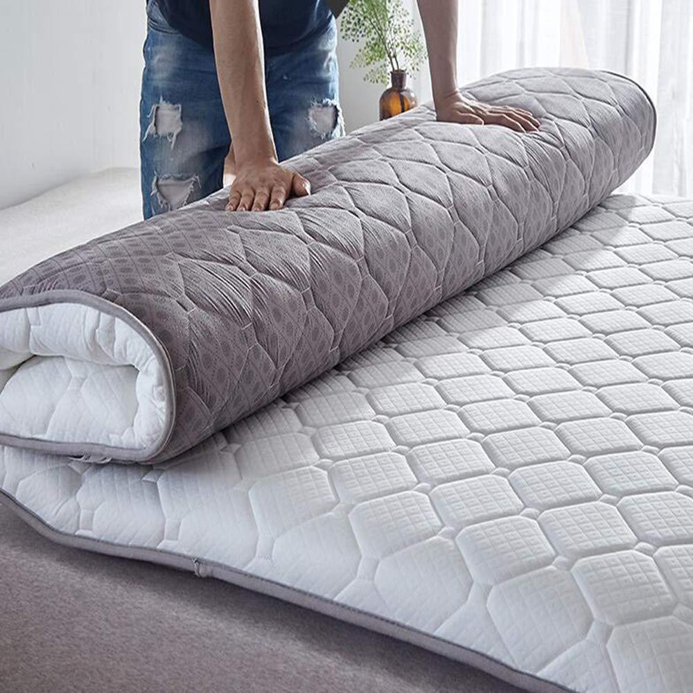 Love Home Tatami Matratzenunterlage, verdickt, japanisch, faltbar, für Vier Jahreszeiten, atmungsaktiv, für Studenten, Schlafsaal, Schaumstoff, weiß, 200x220cm(79x87inch)