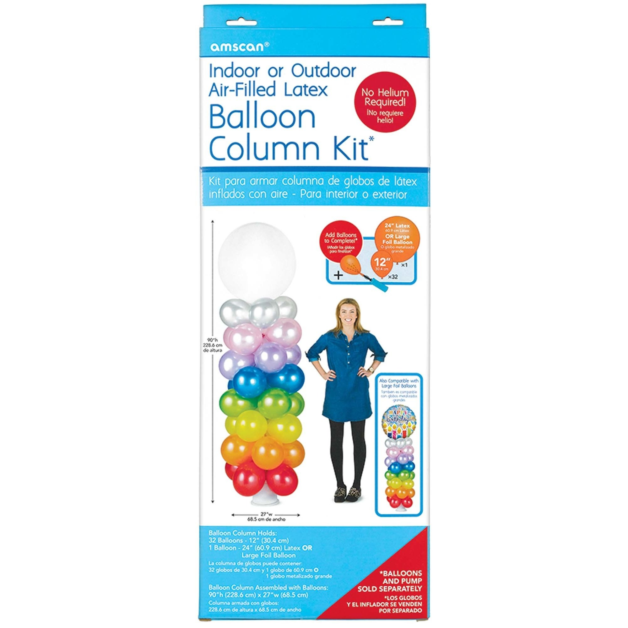 Amscan Air-Filled Latex Balloon Column Kit Party Supplies, Multicolor by Amscan