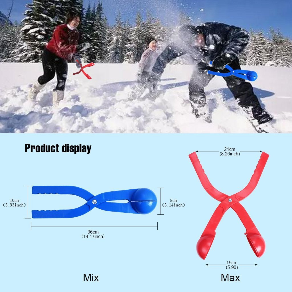 edealing Winter Snowball Maker Toy, Perfect Outdoor Play Snow Toys Kids Red & Blue - 2 Pack (Style 1) by edealing (Image #4)