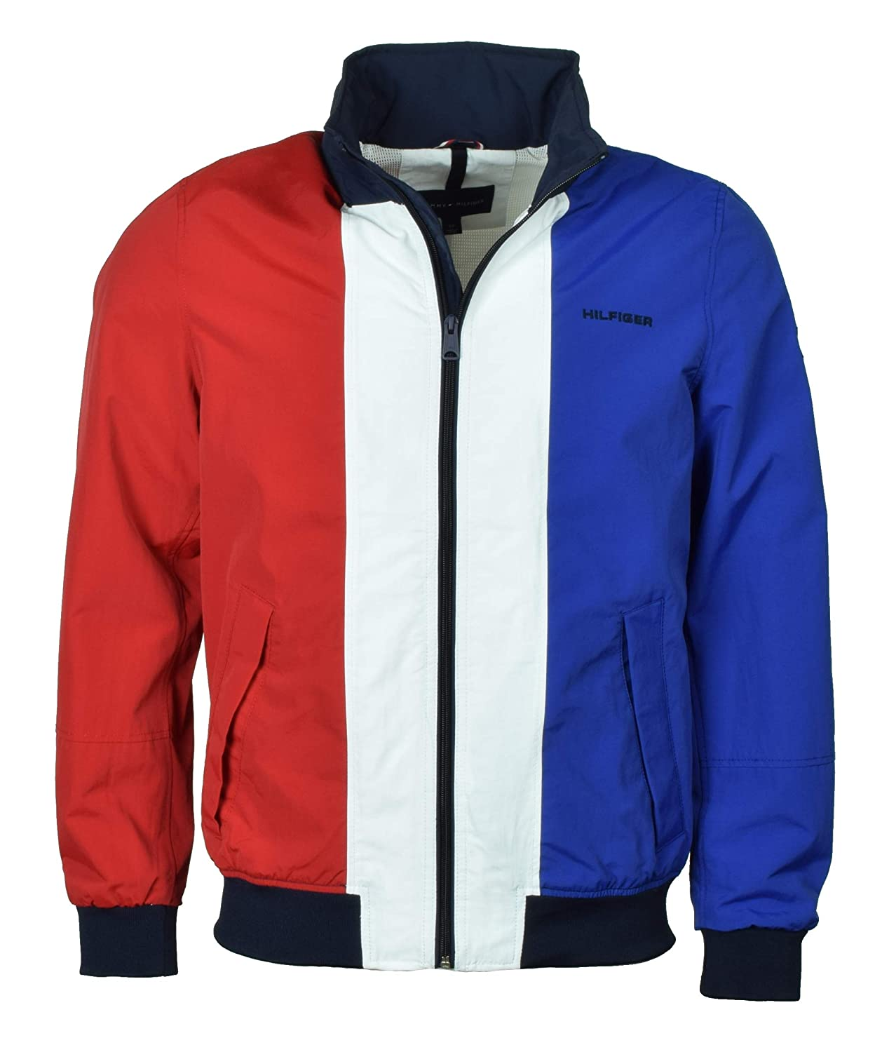 ddbd6210 Tommy Hilfiger Mens Nylon Yacht Jacket Windbreaker - L - Red/White/Blue at  Amazon Men's Clothing store: