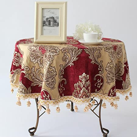 Global Chenille Dining Table Tablecloth Round Rectangle Square European Style Living