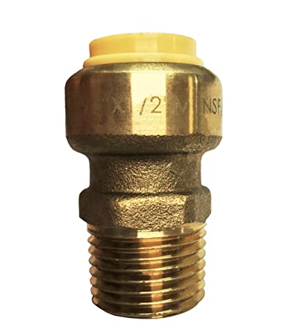 """1 PC 3//4/"""" SHARPBITE STYLE PUSH FIT X 3//4/"""" MALE THREADED ADAPTER LEAD FREE"""