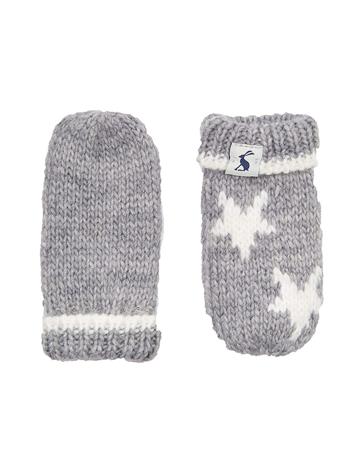 Joules Knitted Mittens - Cream Star