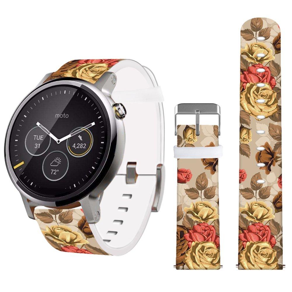 幅22mm 純正 時計ベルト Moto 360 第2世代 46mm/Lg G Watch R W100 W110 Urbane Pebble サムスン Gear2 Neo/それ以外のほとんどのPebbles-22mm その他の22mmベルト用 きらめくカラフルな星 NEW (2) Design-21 Design-21 B06X9T32L4