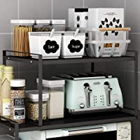"Microwave Oven Stand, Toaster Rack, Spice Organizer Shelf for Kitchen Bathroom Storage, 2-Tier (Small 16""X12""X9.5"")"