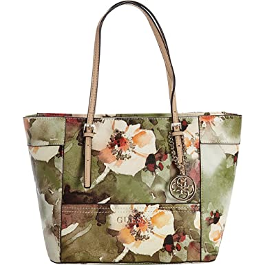 b778b8a72e Image Unavailable. Image not available for. Color: GUESS Women's Delaney  Floral-Print Small Classic Tote