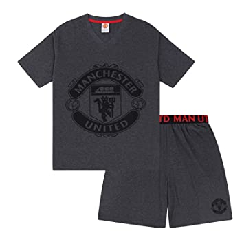 269e517419 Manchester United FC Official Gift Mens Loungewear Short Pyjamas Grey Small