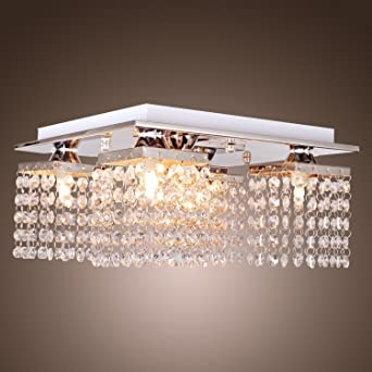 LightInTheBox Crystal Ceiling Light With 5 Lights Electroplated Finish Modern Flush Mount Fixture