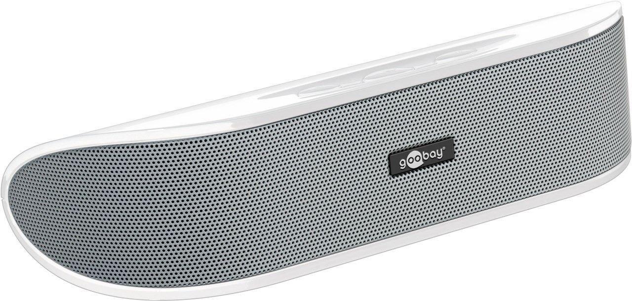 Goobay SoundBar 6W Stereo Lautsprecher für PC, TV und Notebook, weiß Cabstone+ 95122-GB