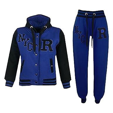 81b0f7a0de1 A2Z 4 Kids Enfants Filles Garçons Baseball Survêtement NYC Fox Veste - T.S  Baseball Fox Royal