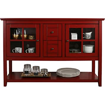 Amazon Media Console Table With Storage Large Glass Doors Tv