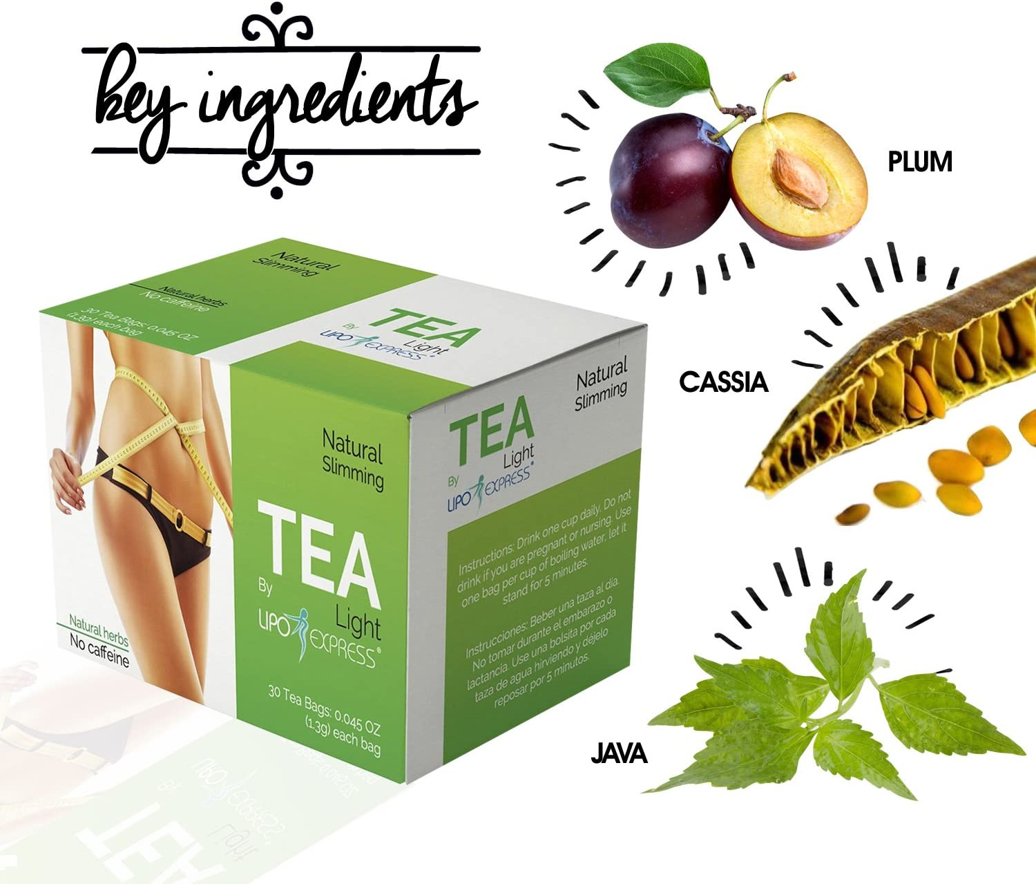 Weight Loss Tea Detox Tea Lipo Express Body Cleanse, Reduce Bloating, & Appetite Suppressant, 30 Day Tea-tox, with Potent Traditional 100% Naturals Herbs