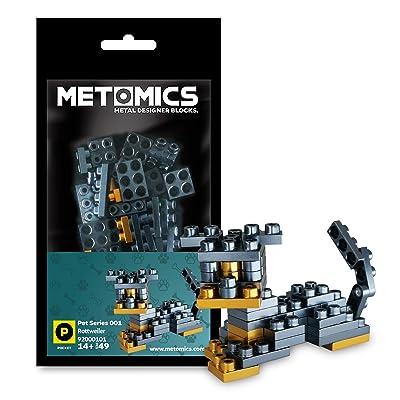 Creative Building Block Pocket - Pet Series 001 Rottweiler 49 pcs Pack (Black): Toys & Games