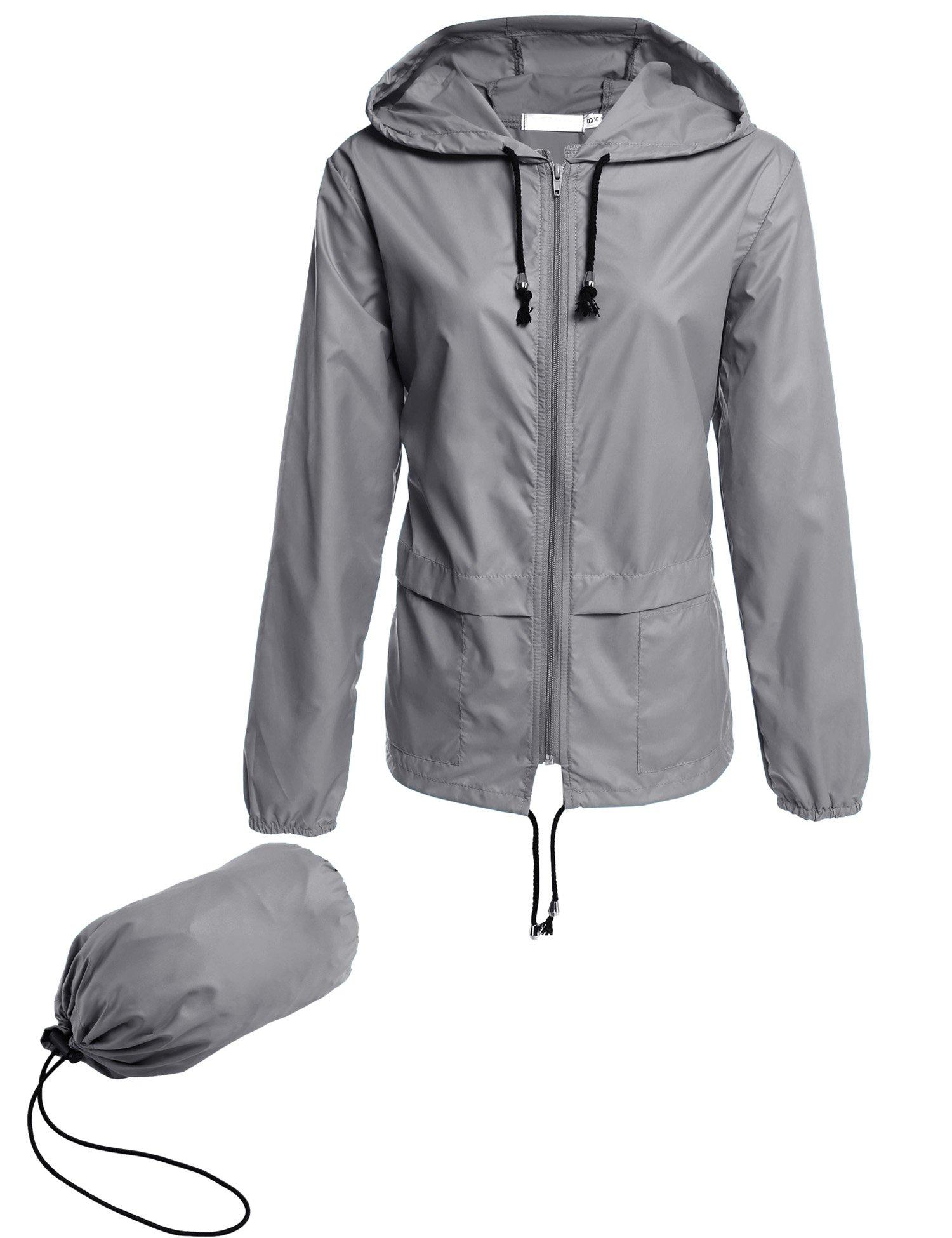 Beyove Women's Lightweight Rain Jacket Active Outdoor Waterproof Packable Hooded Raincoat by Beyove (Image #1)