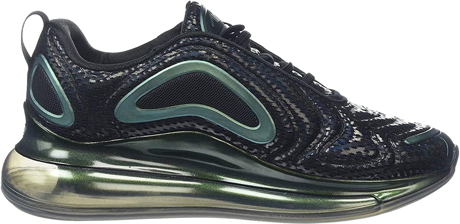 Nike Air Max 720 Mens Running Trainers AO2924 Sneakers Shoes (9) Black Metallic Silver