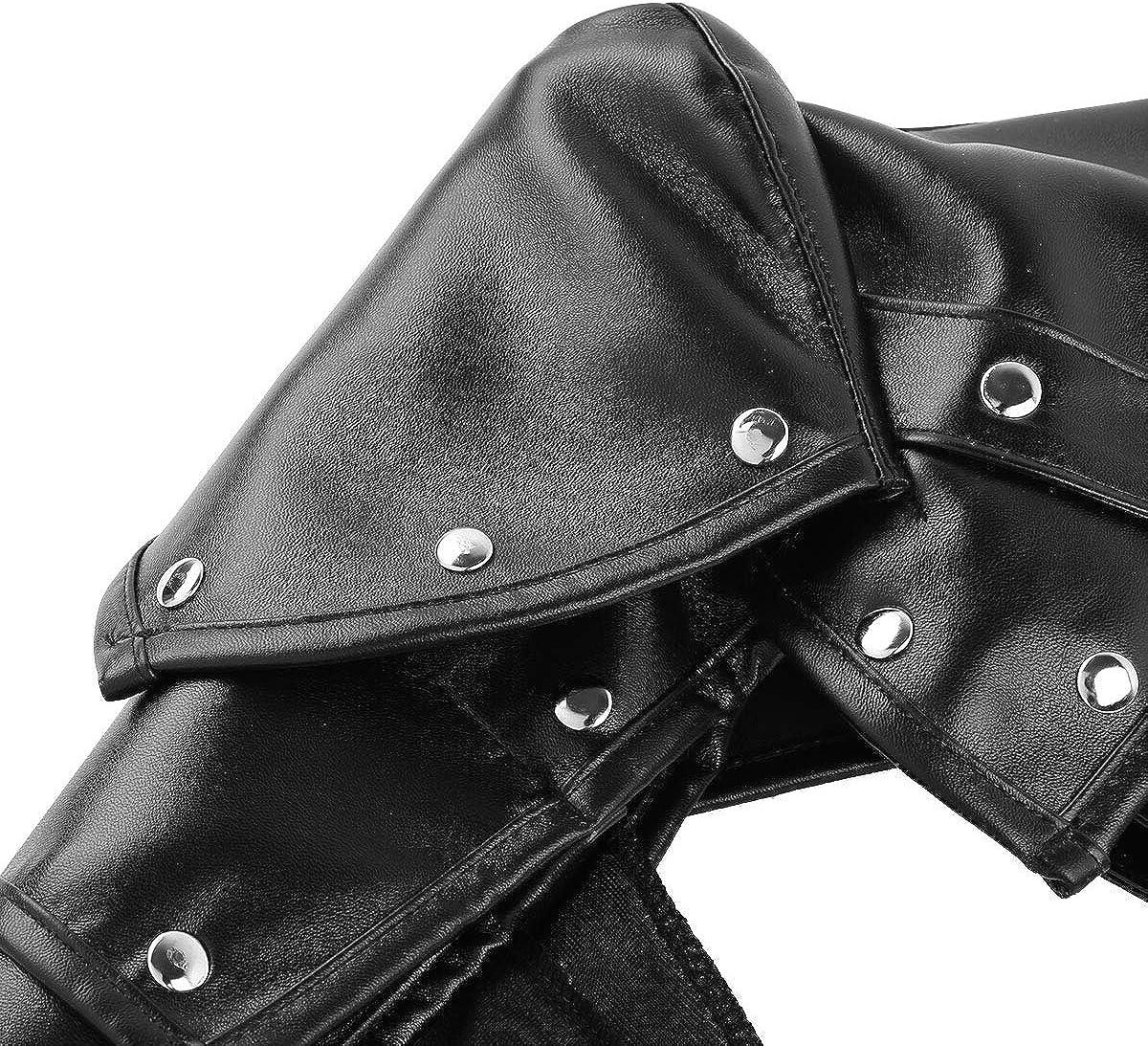 TiaoBug Armatura Regolabile in Pelle per Cosplay Steampunk Accessori per Donna e Uomini Halloween Festa Carnevale Party Imbracatura Clubwear Stile Punk Gotico