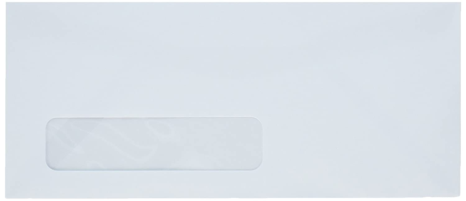 #10 White Left Window Envelopes - Size 4 1/8 X 9 1/2 - 24lb. - 100 Envelopes - Superfine Inc. Brand 04048