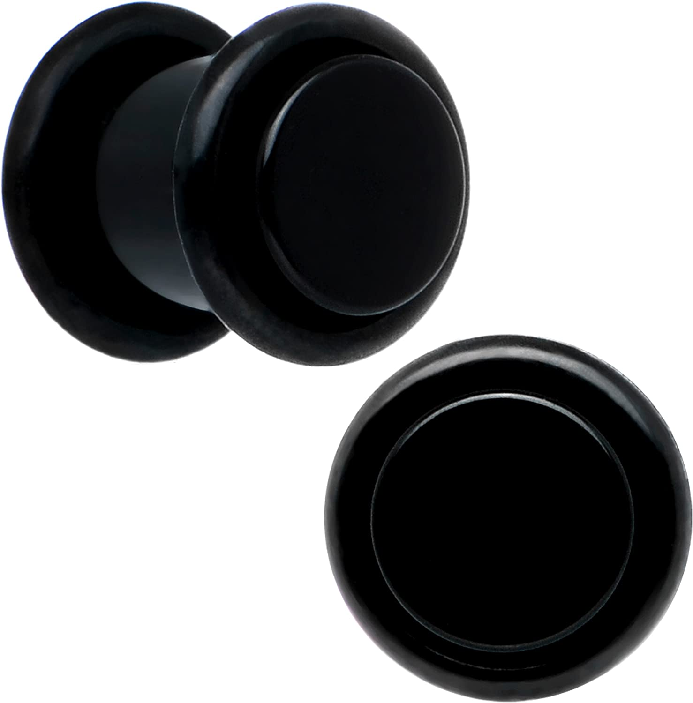 Body Candy 0 Gauge Plaid Cherry Acrylic Taper Ear Gauge Plug 1 Piece