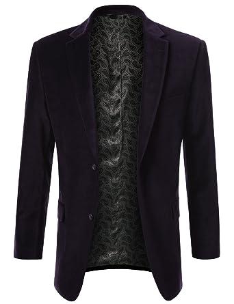 89ebcd02e5 MONDAYSUIT Mens Sport Coat Cocktail Party Velvet Blazer Suit Jacket