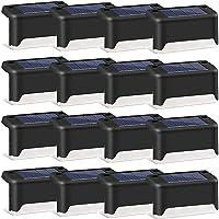 JYDirect Solar Deck Lights Outdoor, 16 Pack Solar Step Lights LED Waterproof Solar Fence Lights for Outdoor Deck, Patio…
