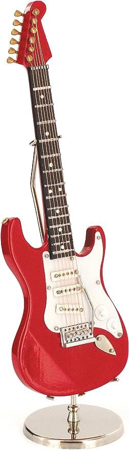 Anne Fuzeau Creation Guitarra eléctrica Miniatura roja - de Madera ...