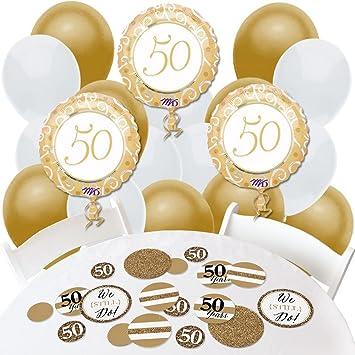 amazon com we still do 50th wedding anniversary confetti and