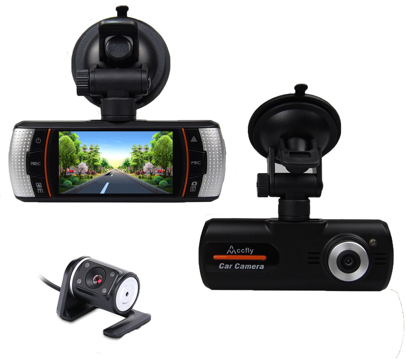 Accfly 2.7-inch Screen 1080P HD Video Recorder DVR Dual Lens Car Dash Camera QIN-C001CZ QIN-C077CZ