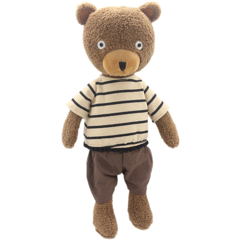 JIARU Dressed Stuffed Animals Teddy Bear Plush Toys Brown 14 Inches by JIARU