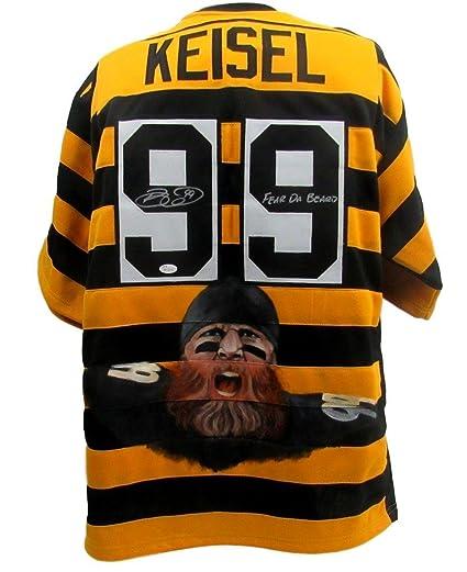 2146defd1 Brett Keisel Autographed Jersey - Painted 135772 - JSA Certified - Autographed  NFL Jerseys