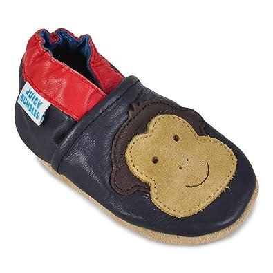 Lauflernschuhe gibt es auch aus weichem Leder ohne feste Sohle.