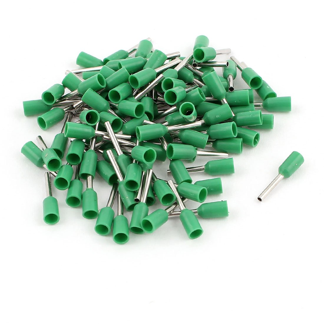 100Pcs 0.5mm2 Crimp Cord End Terminal Bootlace Ferrule Connector Green Sourcingmap a14101600ux0340