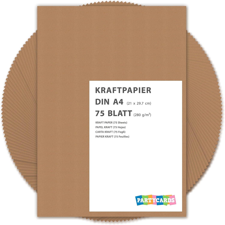 Hojas de papel de estraza cartón kraft 280 gr/m2 Natural en alta ...