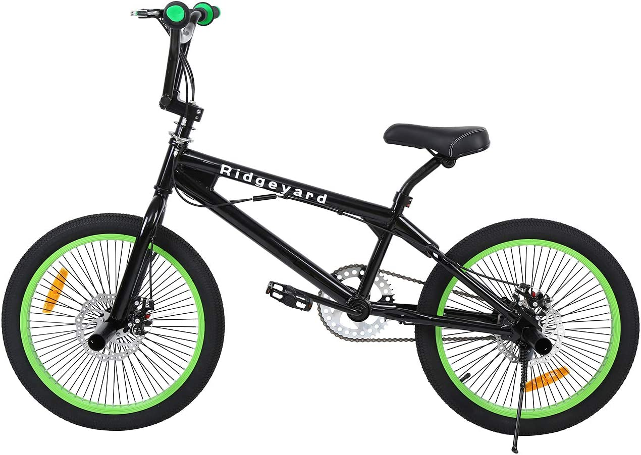 Ridgeyard Bicicleta BMX Free-style 20 pulgadas Rotor 360 °4 clavijas bmx bikes