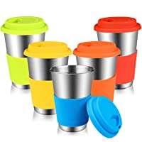 Stainless Steel Cups, Kereda Sippy Cup For Kids/Adults 16 oz With Silicone Sleeves...