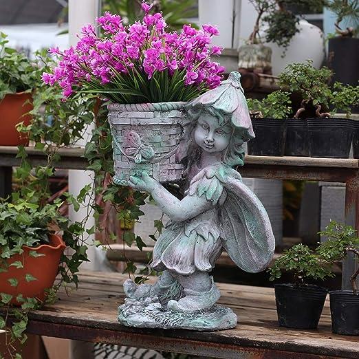 Adornos De Jardín Jardín Estatua Ornamento De La Vendimia Escultura Creativa Retro Óxido De Magnesio Balcón