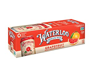 Waterloo Sparkling Water, Grapefruit Naturally Flavored, 12 Fl Oz Cans, Pack of 12 | Zero Calories | Zero Sugar or Artificial Sweeteners | Zero Sodium