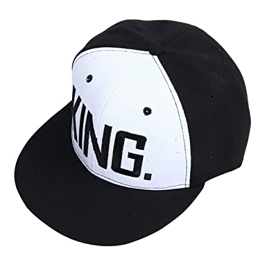 821faee7b1d Image Unavailable. Image not available for. Colour  Yodensity Adjustable  Baseball Cap With King Queen Embroidery Letter Hip-Hop Hat For Lovers Couple