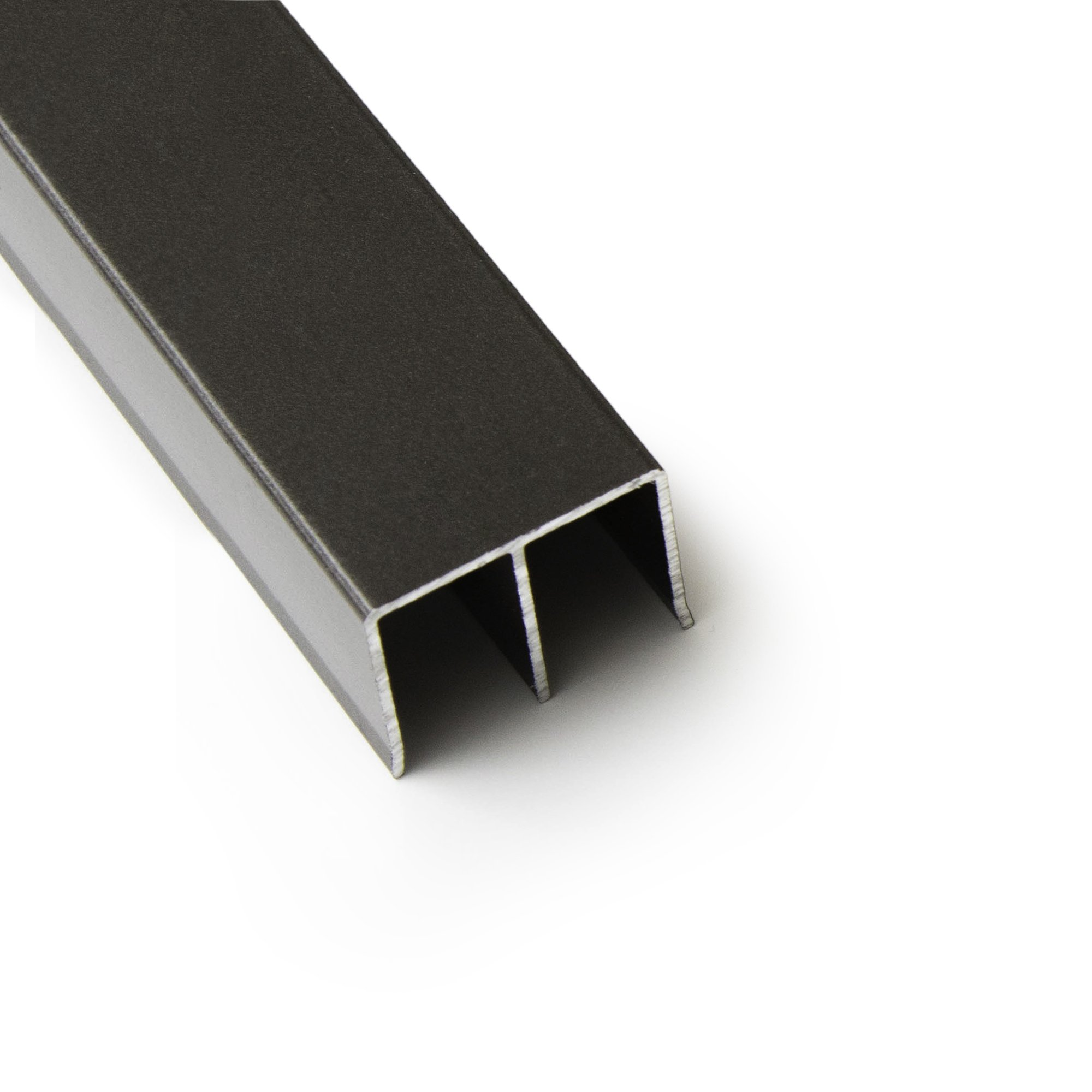 Top Double Track for By-Pass Sliding Screen Doors - 1'' Deep (Bronze)