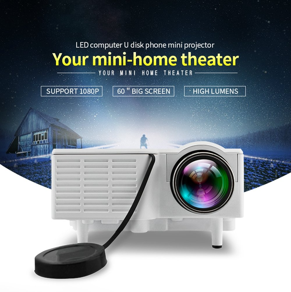 Unic UC28 Mini Pico Full hd Input LED Projector Home: Amazon.in ...
