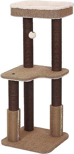 PetPals Balmy – Natural Jute Cat Tree w Rubber Massager