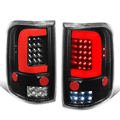 DNA Motoring TL-F15004-LED-RD3D-BK-G2 Red 3D LED Bar Tail Light (For 04-08 Ford F150/Lobo, Pair, Black), 1 Pack: Automotive