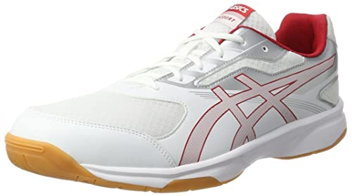 more photos 1b49a 80425 ASICS Upcourt 2, Chaussures Multisport Indoor Homme, Blanc (White Prime Red