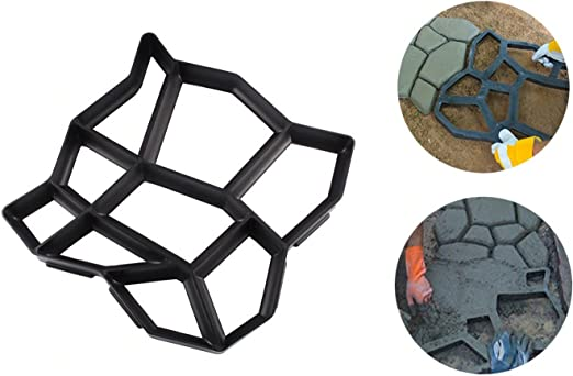 4371 Matríz para cemento molde para pavimentos de jardín 42, 5 x 42, 5 cm: Amazon.es: Jardín