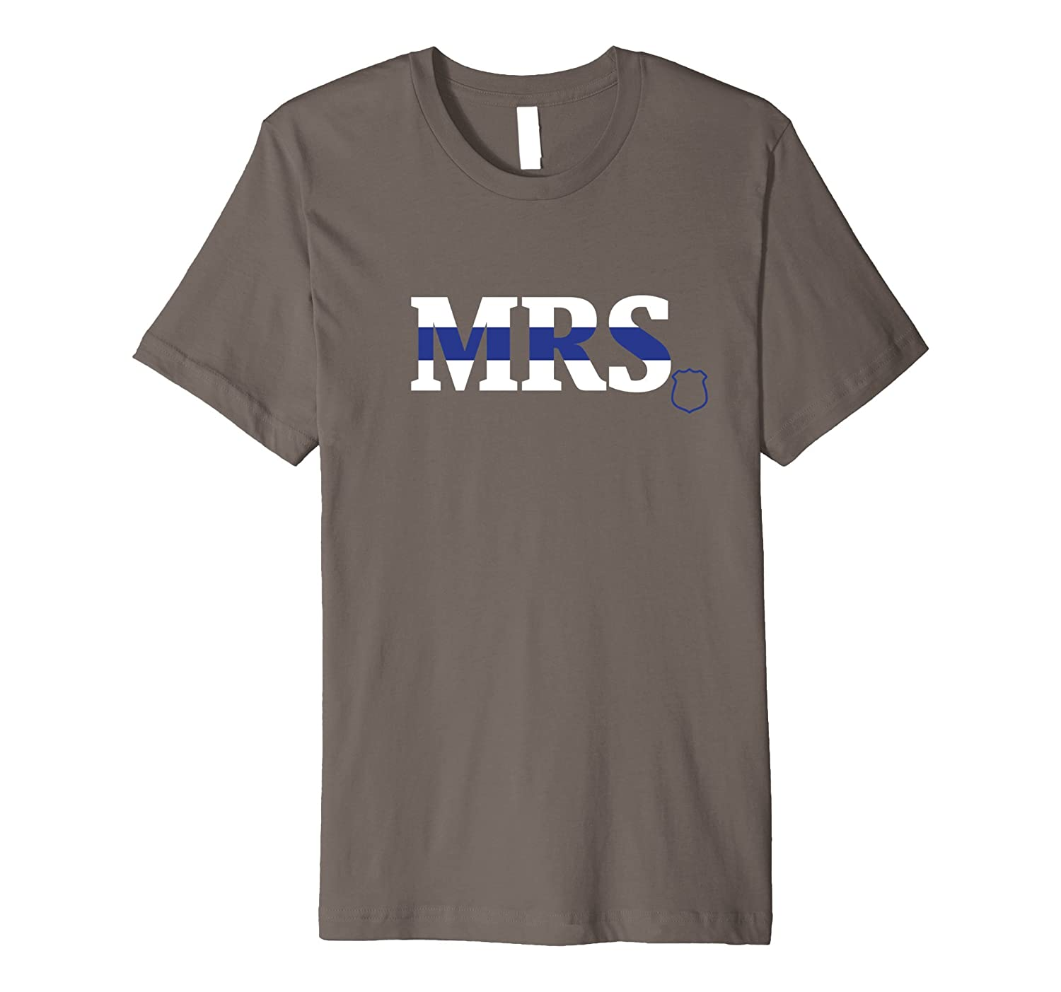 The Mrs - Police Officer Wife - Fitted T-Shirt-TD