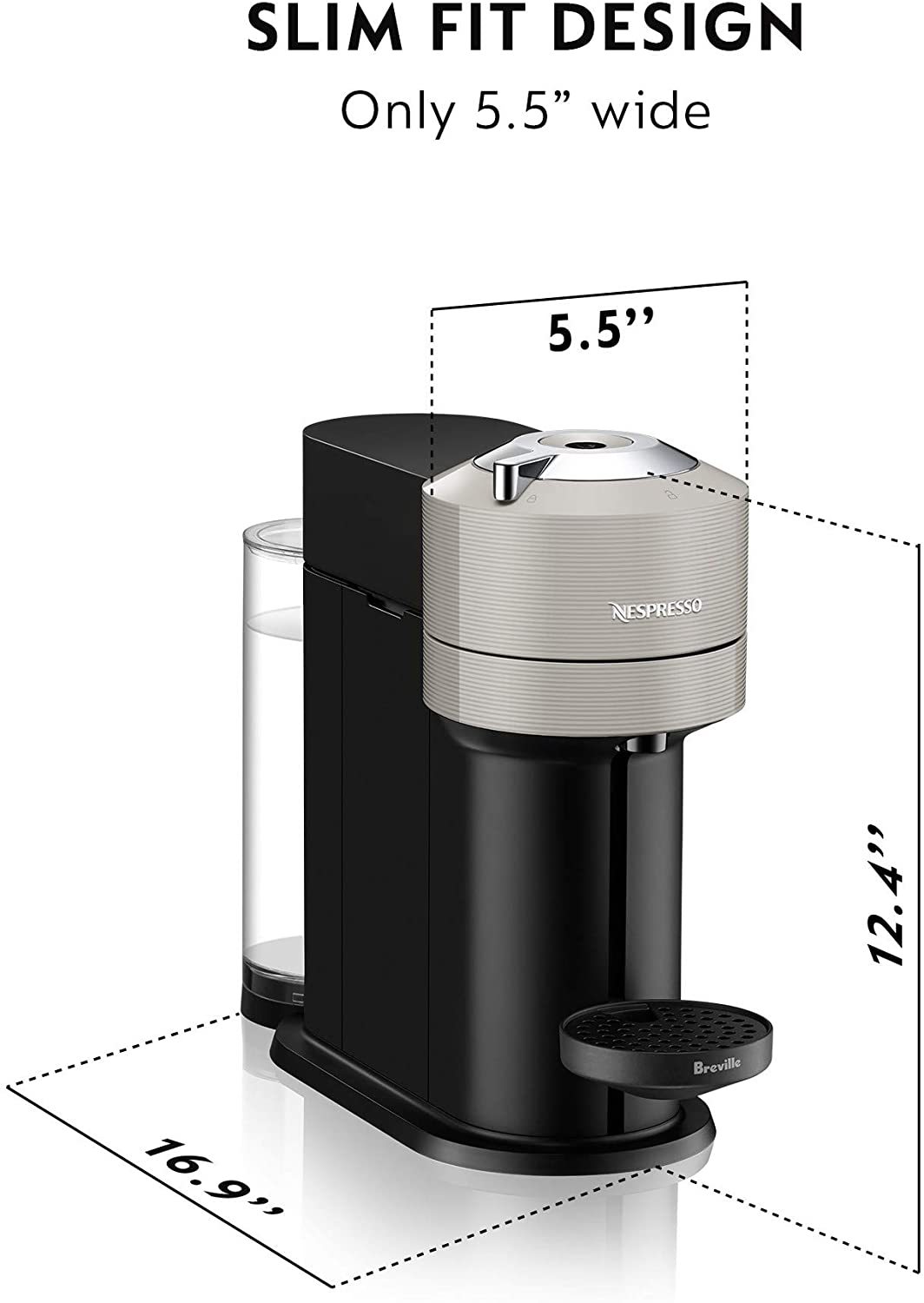 Slim fit design - Best home espresso machine under 200