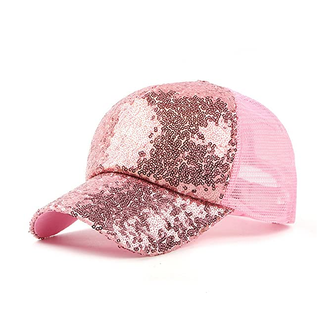 JUNGEN Unisex Gorra de Béisbol Transpirable con Lentejuelas Sombrero de Sol al Aire Libre Casquillo ocasional para primavera verano para Hombres Mujeres: ...