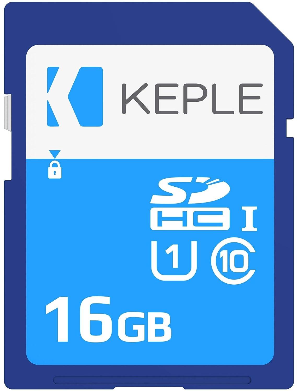 Keple 16GB Tarjeta de Memoria SD Card | Clase 10 SD Memory Card Compatible con Nikon D5300, D5600, D7500, D850, D3100, D3400 SLR Camara | 16 GB UHS-1 ...